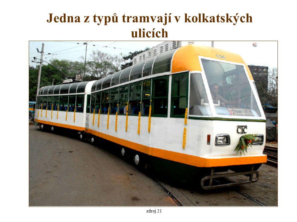 Jedna z typů tramvají v kolkatských ulicích zdroj 21