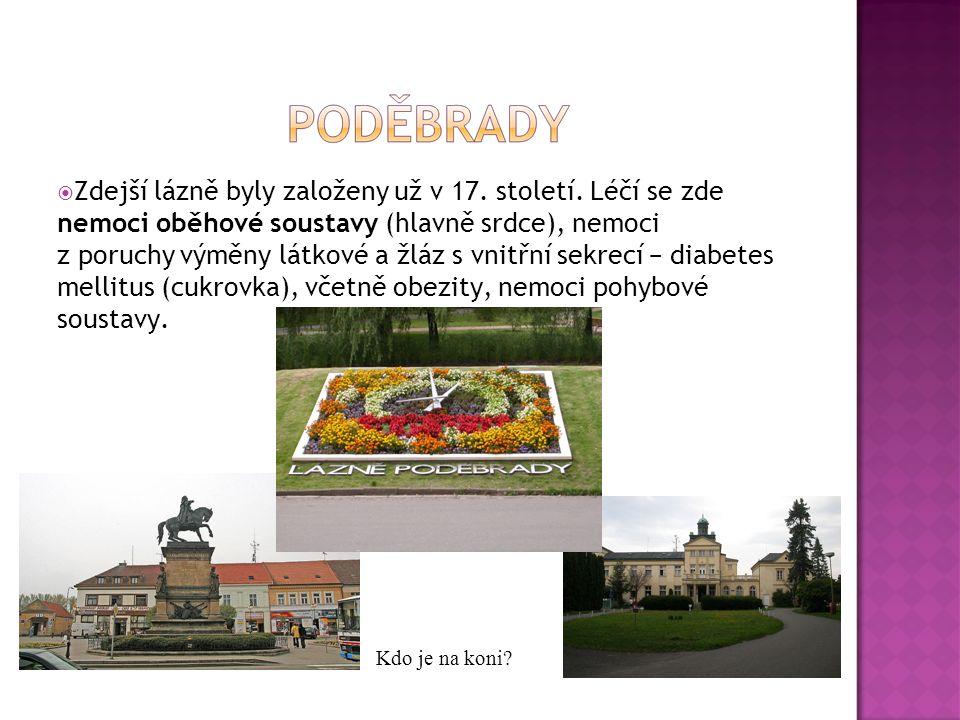  Zdejší lázně byly založeny už v 17. století. Léčí se zde nemoci oběhové soustavy (hlavně srdce), nemoci z poruchy výměny látkové a žláz s vnitřní se