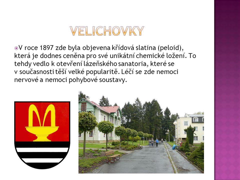  V roce 1897 zde byla objevena křídová slatina (peloid), která je dodnes ceněna pro své unikátní chemické ložení. To tehdy vedlo k otevření lázeňskéh