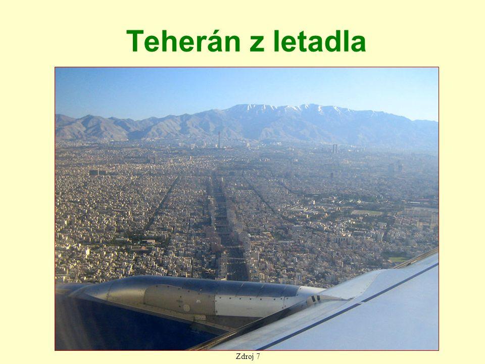 Teherán z letadla Zdroj 7