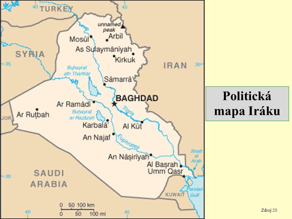 Zdroj 20 Politická mapa Iráku