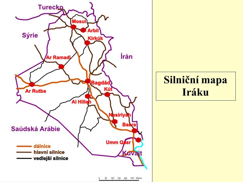 Silniční mapa Iráku