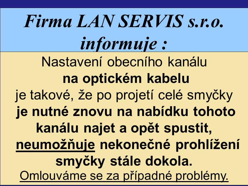 Firma LAN SERVIS s.r.o.