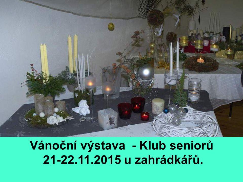Vánoční výstava - Klub seniorů 21-22.11.2015 u zahrádkářů.