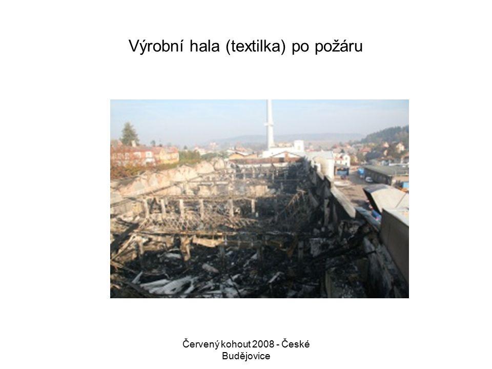 Červený kohout 2008 - České Budějovice Výrobní hala (textilka) po požáru