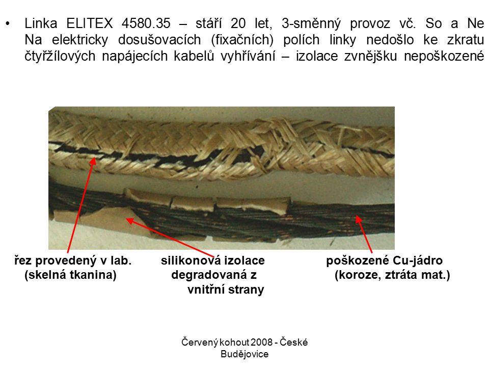 Červený kohout 2008 - České Budějovice Linka ELITEX 4580.35 – stáří 20 let, 3-směnný provoz vč.