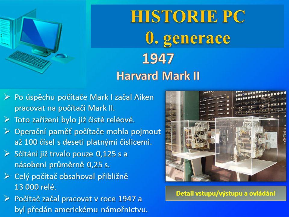  Po úspěchu počítače Mark I začal Aiken pracovat na počítači Mark II.  Toto zařízení bylo již čistě reléové.  Operační paměť počítače mohla pojmout