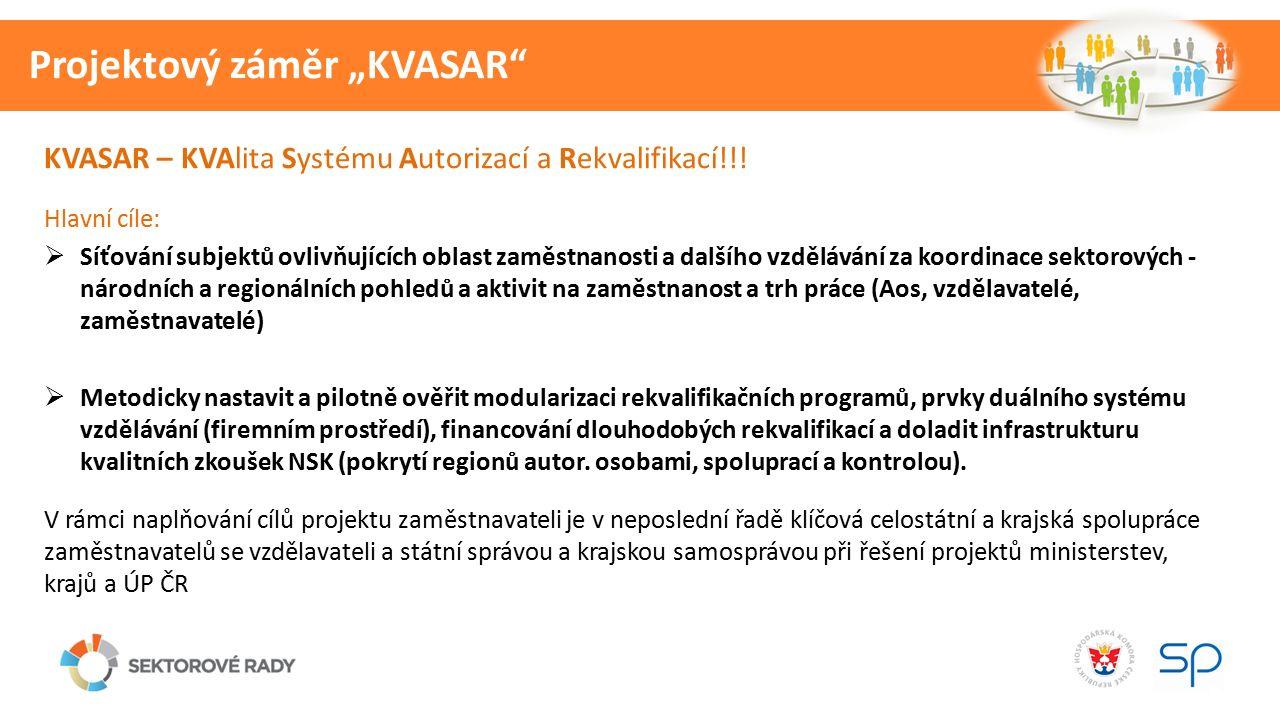"""Projektový záměr """"KVASAR KVASAR – KVAlita Systému Autorizací a Rekvalifikací!!."""