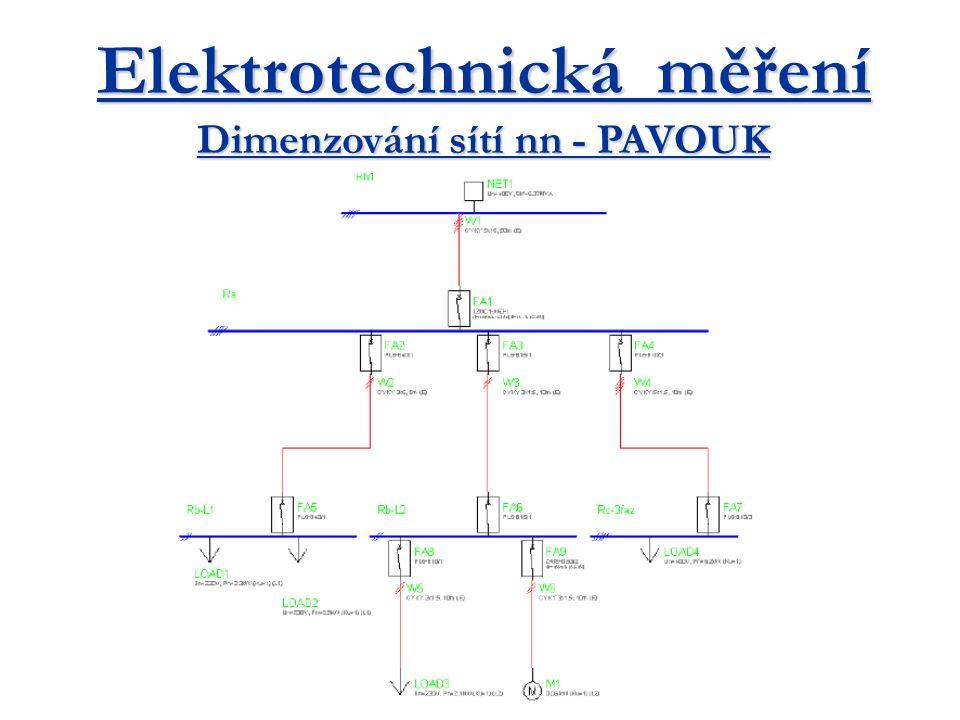 Napájení za sítě vn -orientační zkratový výkon soustavy vn v nápovědě, v případě požadavku přesného výpočtu je třeba se obrátit na provozovatele sítě -přímo na soustavu vn se připojuje transformátor.