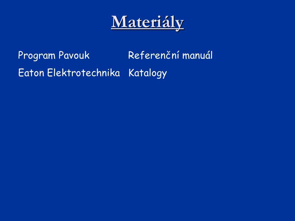 Materiály Program PavoukReferenční manuál Eaton ElektrotechnikaKatalogy