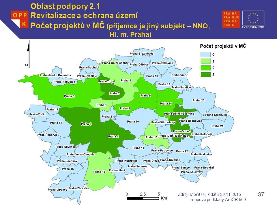WWW.OPPK.CZ 37 Počet projektů v MČ (příjemce je jiný subjekt – NNO, Hl.