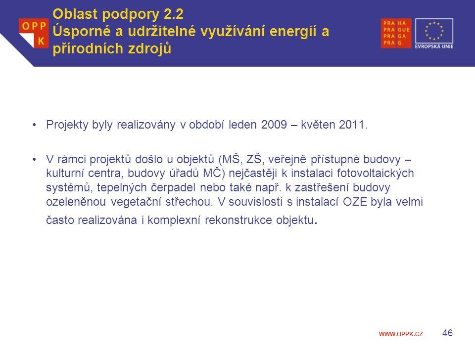 WWW.OPPK.CZ Projekty byly realizovány v období leden 2009 – květen 2011.