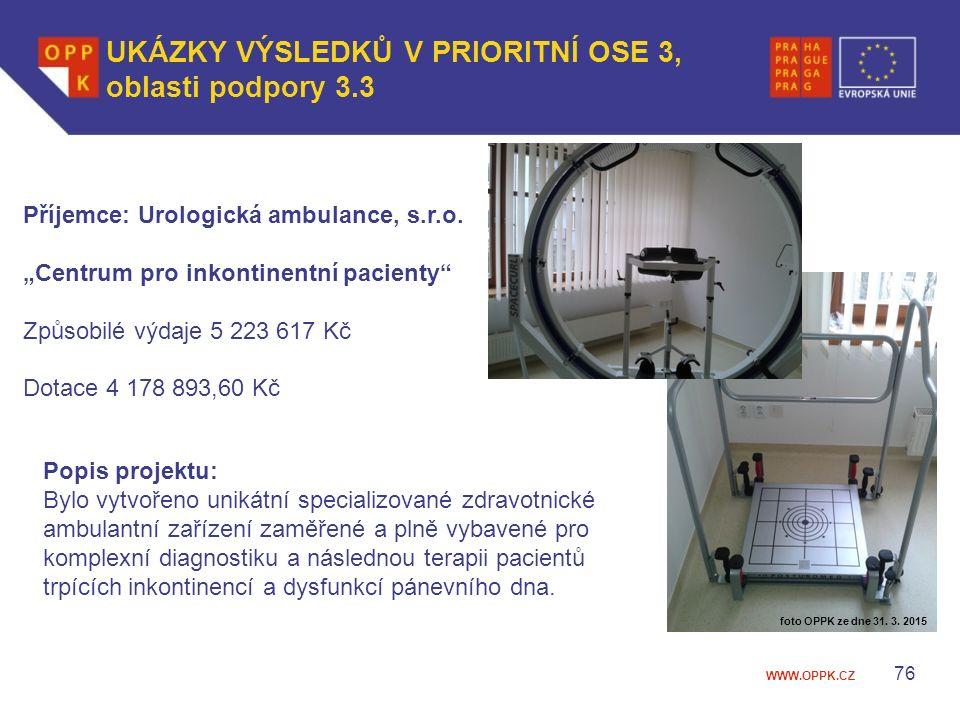 WWW.OPPK.CZ 76 Příjemce: Urologická ambulance, s.r.o.