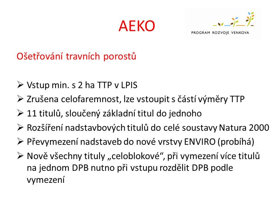 AEKO Ošetřování travních porostů  Vstup min.