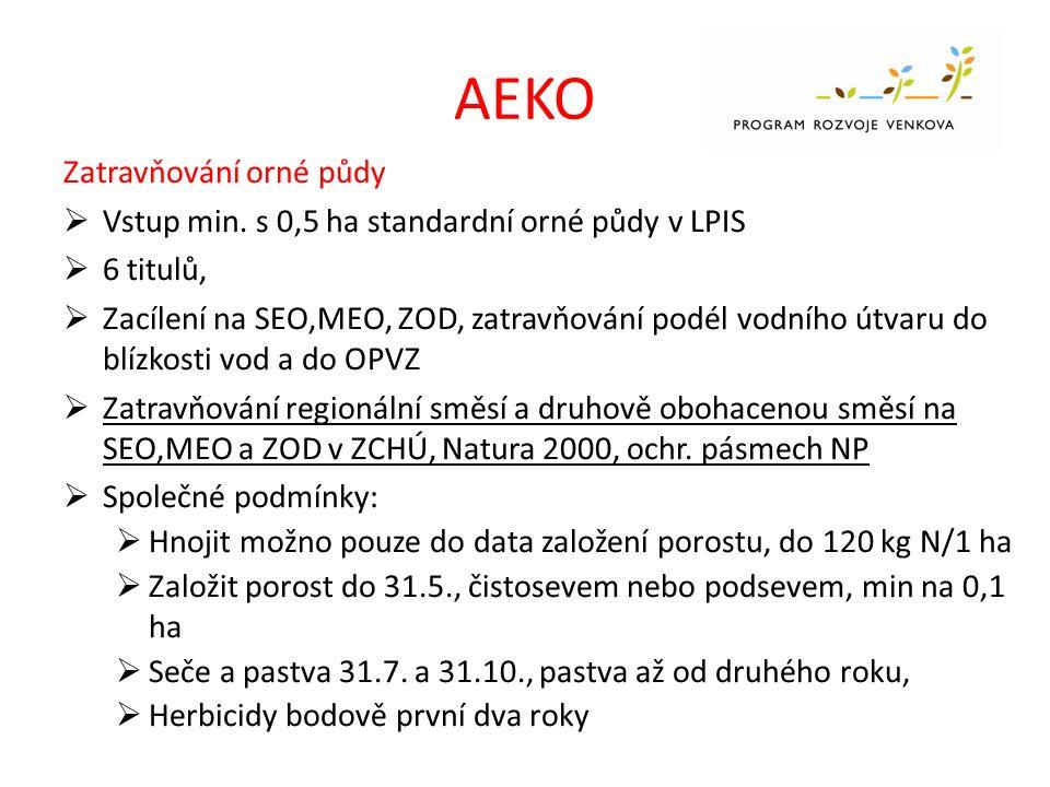 AEKO Zatravňování orné půdy  Vstup min.