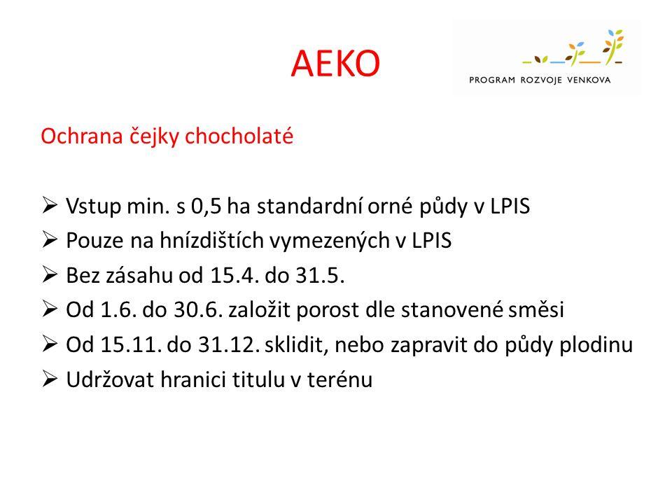 AEKO Ochrana čejky chocholaté  Vstup min.