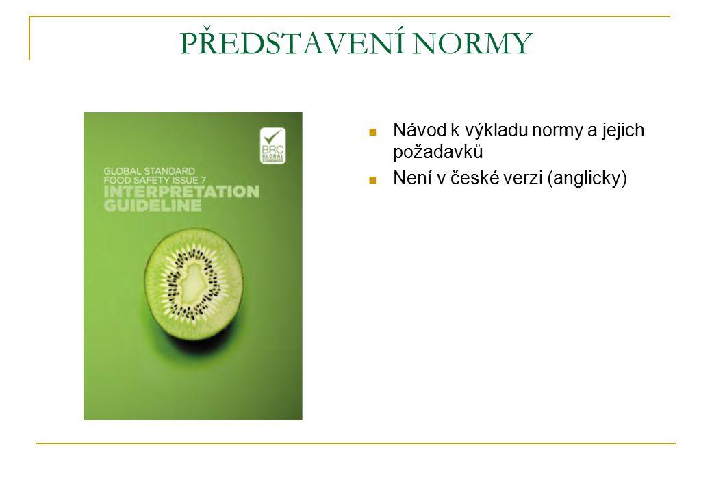 PŘEDSTAVENÍ NORMY Návod k výkladu normy a jejich požadavků Není v české verzi (anglicky)