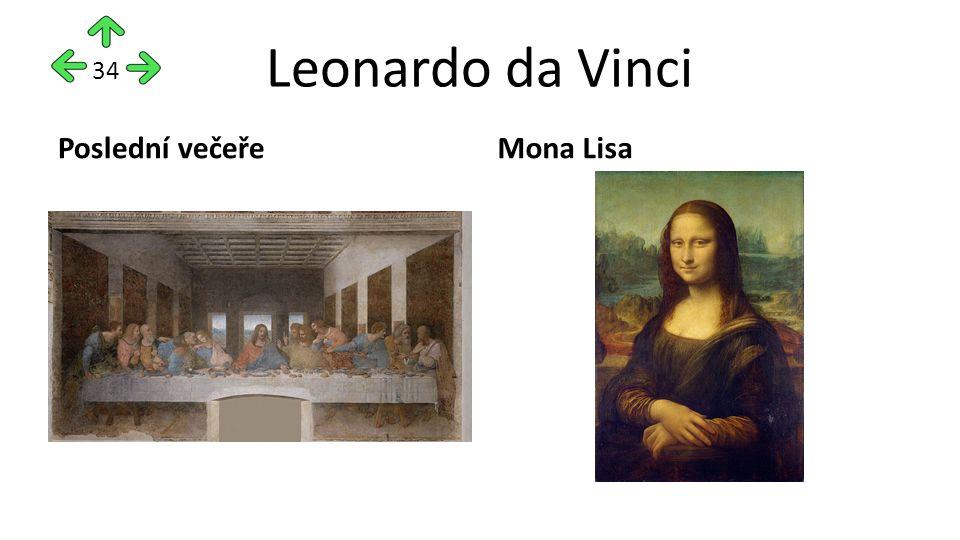 Leonardo da Vinci Poslední večeřeMona Lisa 34