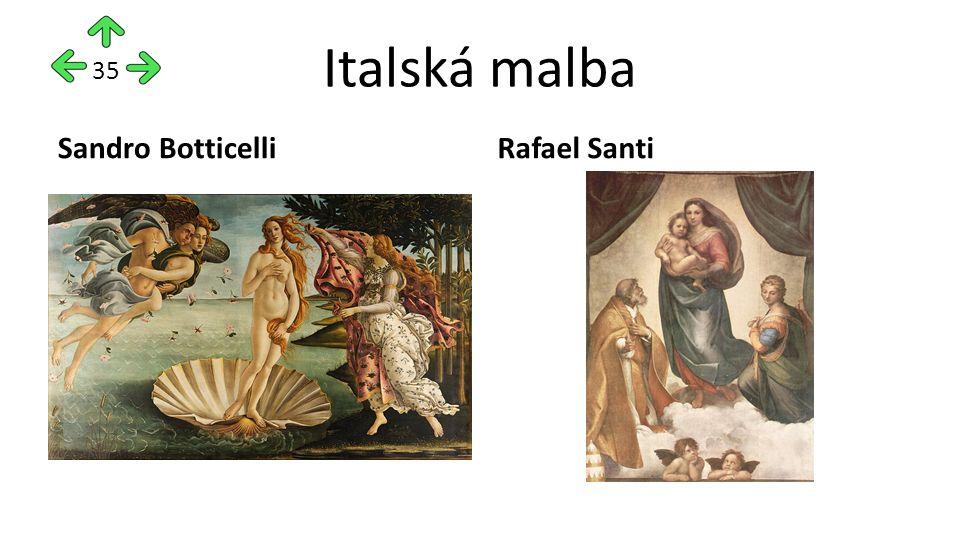 Italská malba Sandro BotticelliRafael Santi 35