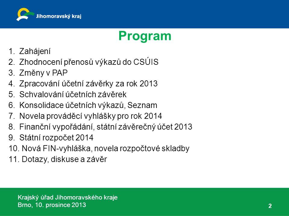 Krajský úřad Jihomoravského kraje Brno, 10.prosince 2013 73 Příloha č.