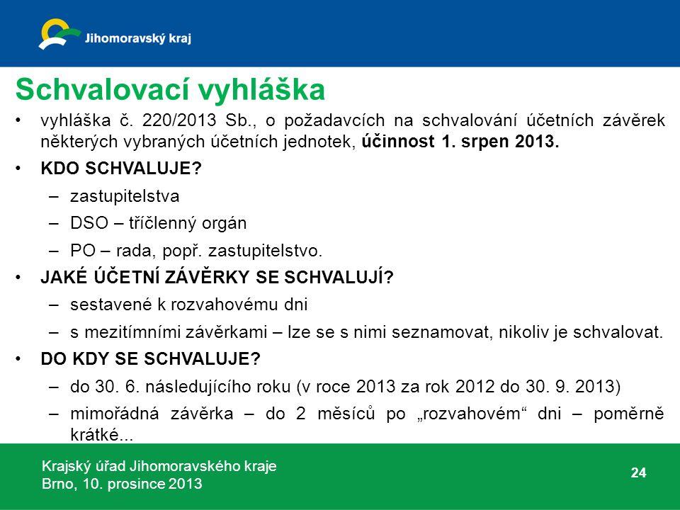 Krajský úřad Jihomoravského kraje Brno, 10. prosince 2013 Schvalovací vyhláška vyhláška č.