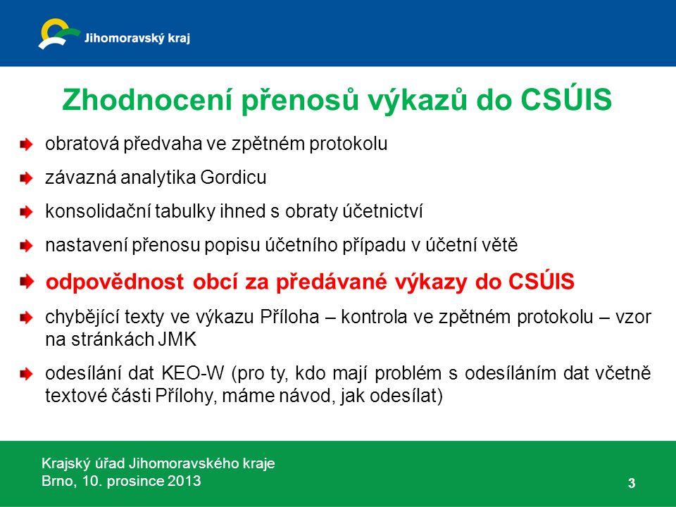 Krajský úřad Jihomoravského kraje Brno, 10.prosince 2013 Schvalovací vyhláška vyhláška č.