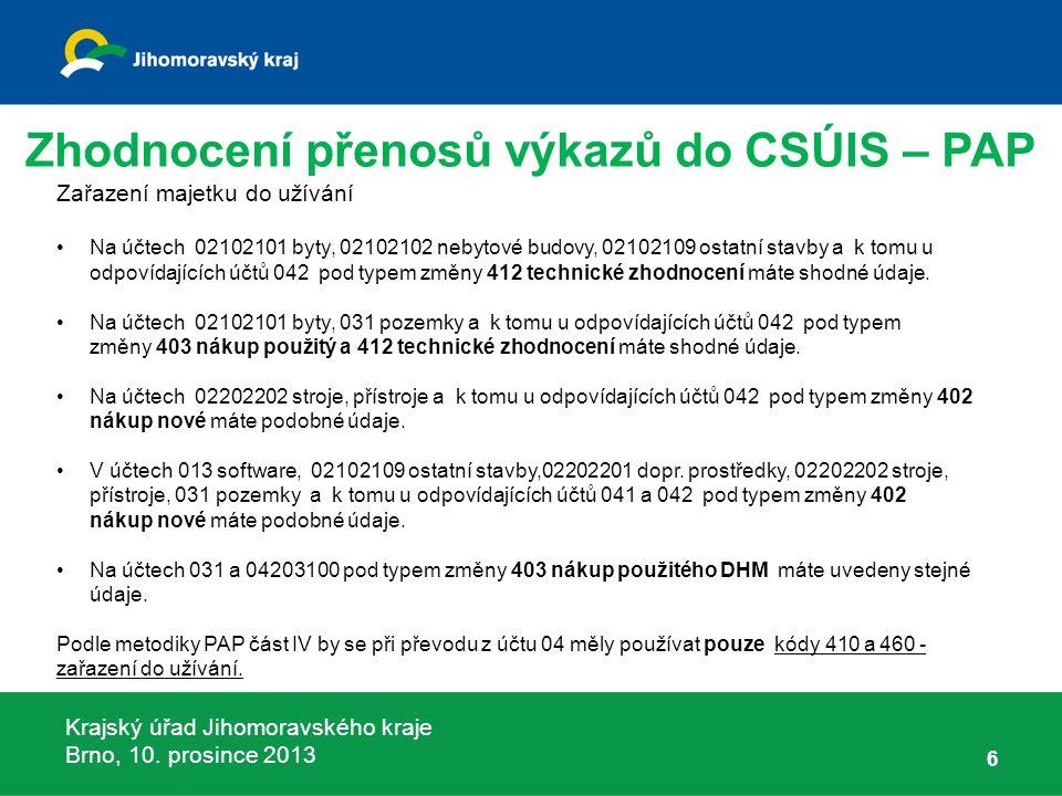 Krajský úřad Jihomoravského kraje Brno, 10.prosince 2013 67 Příloha č.