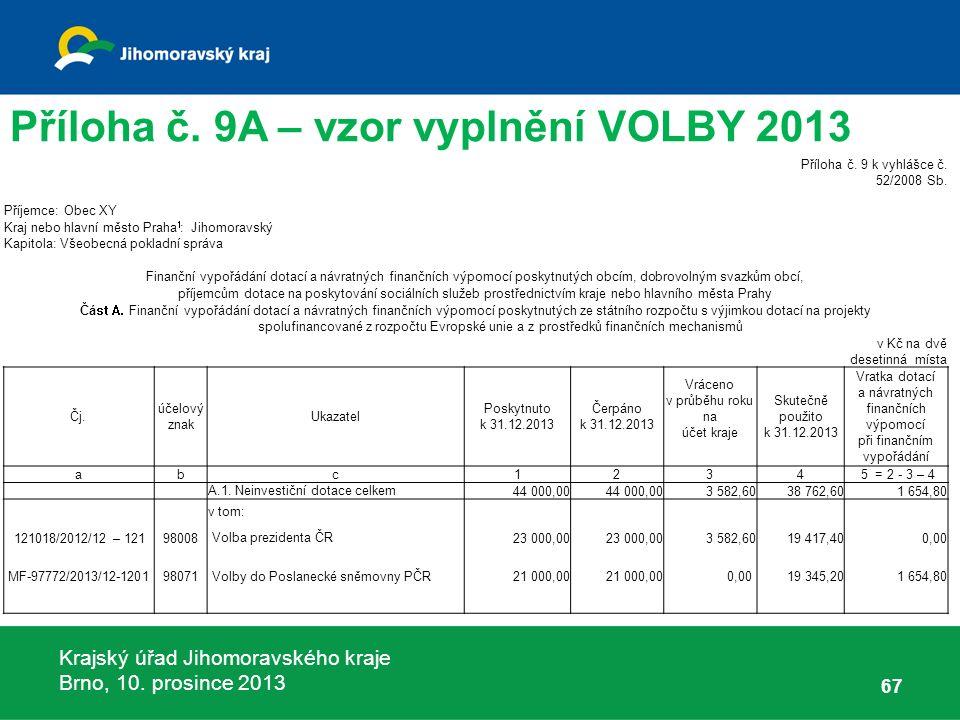 Krajský úřad Jihomoravského kraje Brno, 10. prosince 2013 67 Příloha č.