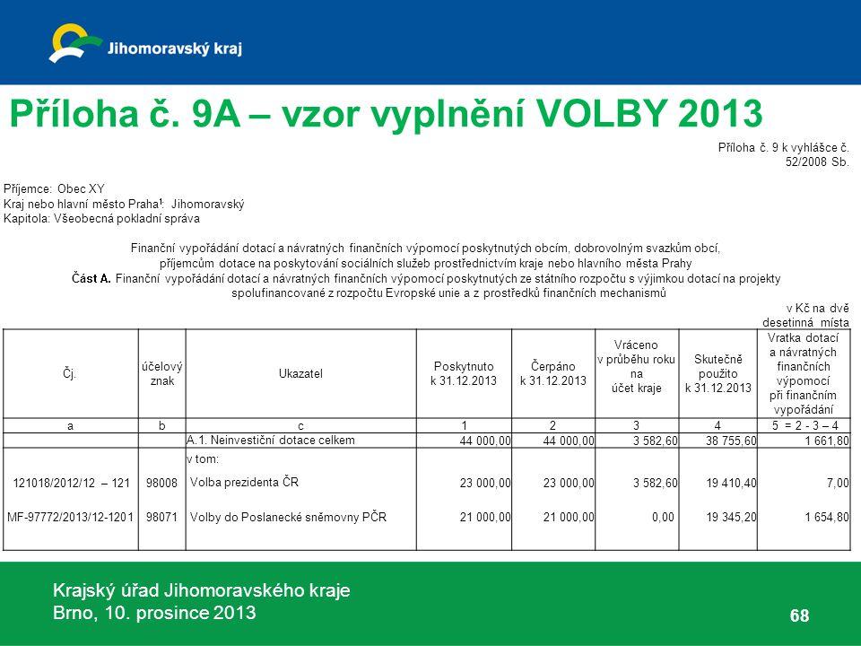 Krajský úřad Jihomoravského kraje Brno, 10. prosince 2013 68 Příloha č.