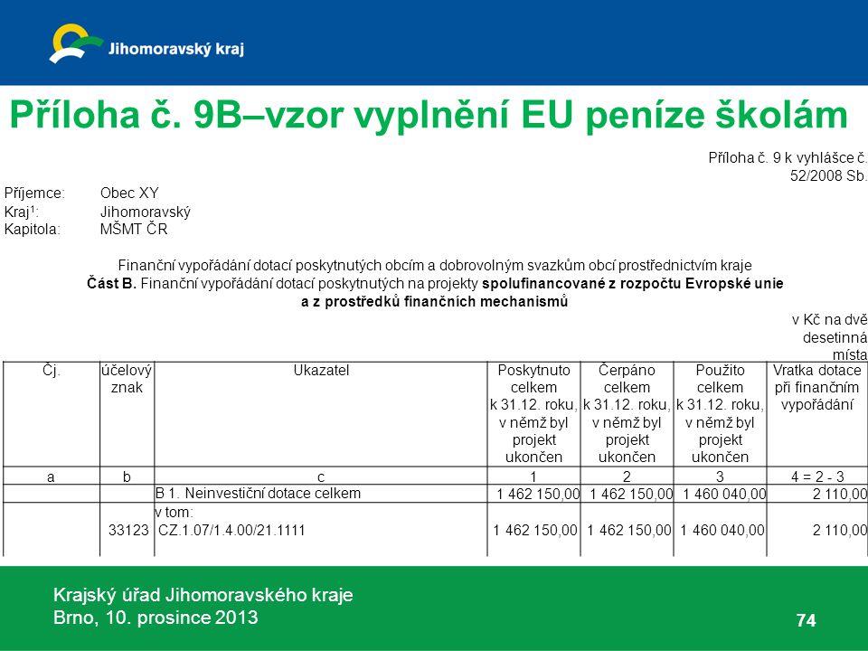 Krajský úřad Jihomoravského kraje Brno, 10. prosince 2013 74 Příloha č.