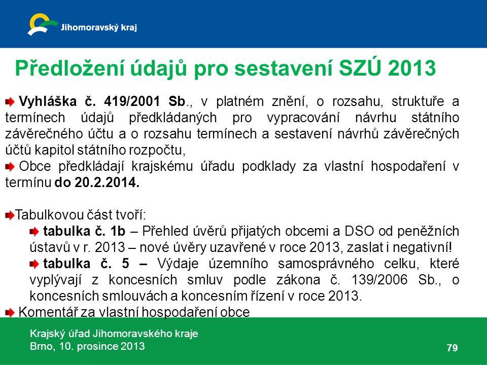 Krajský úřad Jihomoravského kraje Brno, 10. prosince 2013 79 Vyhláška č.