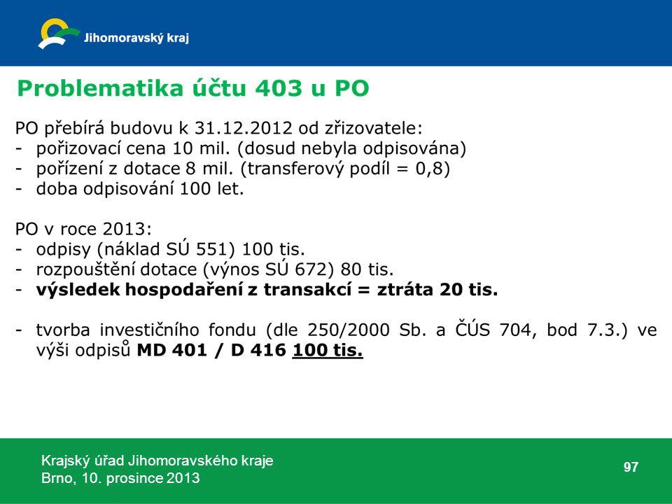 Krajský úřad Jihomoravského kraje Brno, 10. prosince 2013 97