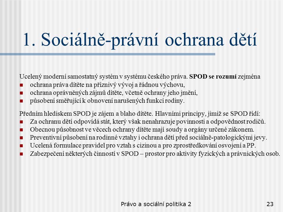 Právo a sociální politika 223 1.