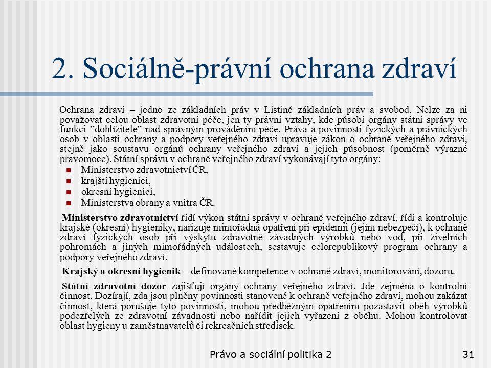 Právo a sociální politika 231 2.