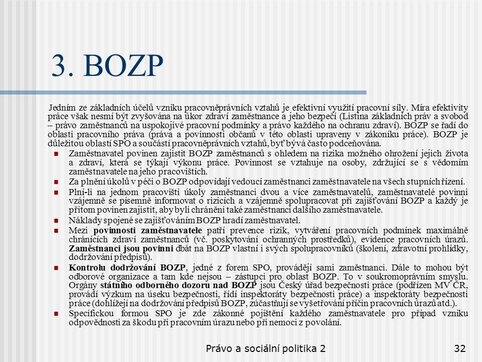 Právo a sociální politika 232 3.
