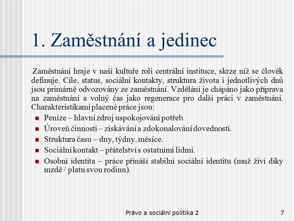 Právo a sociální politika 27 1.