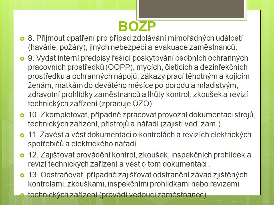 BOZP  8.