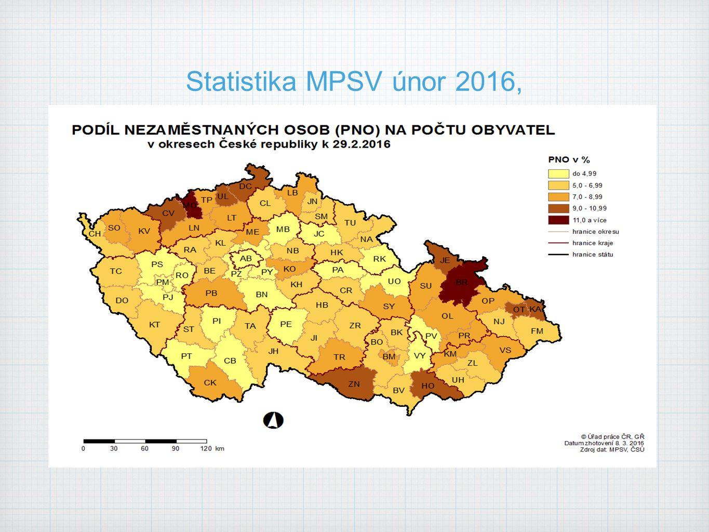 Statistika MPSV únor 2016,