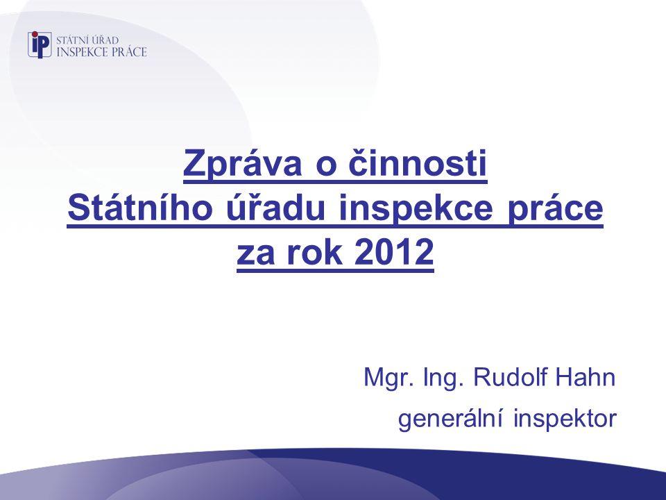 Zpráva o činnosti Státního úřadu inspekce práce za rok 2012 Mgr.