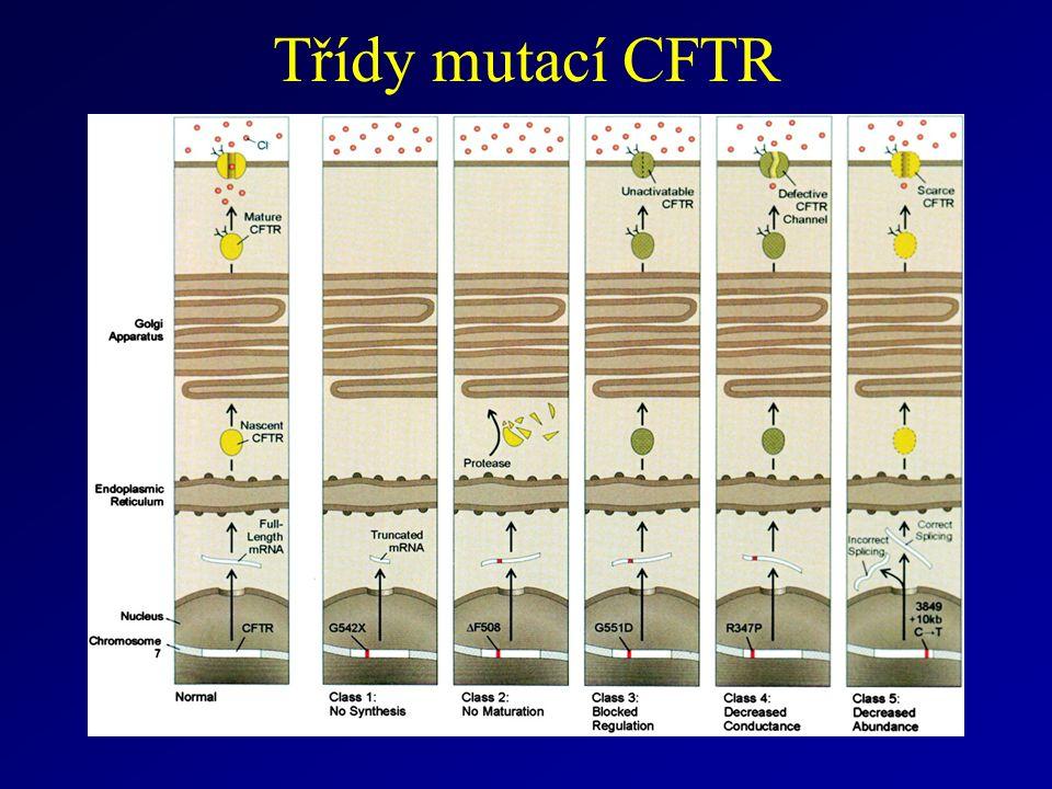 Třídy mutací CFTR