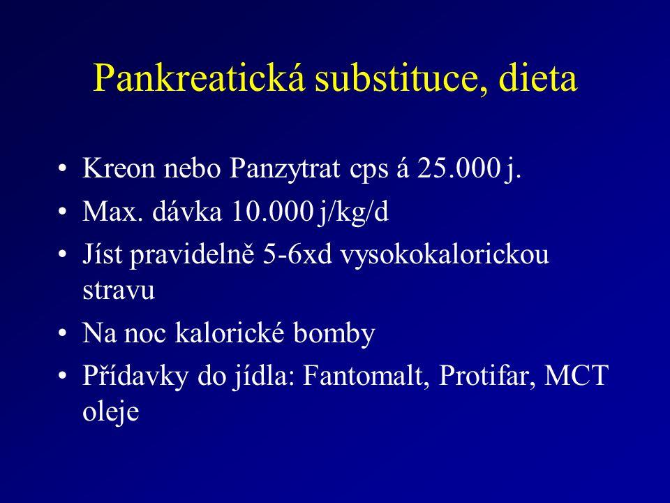 Pankreatická substituce, dieta Kreon nebo Panzytrat cps á 25.000 j.