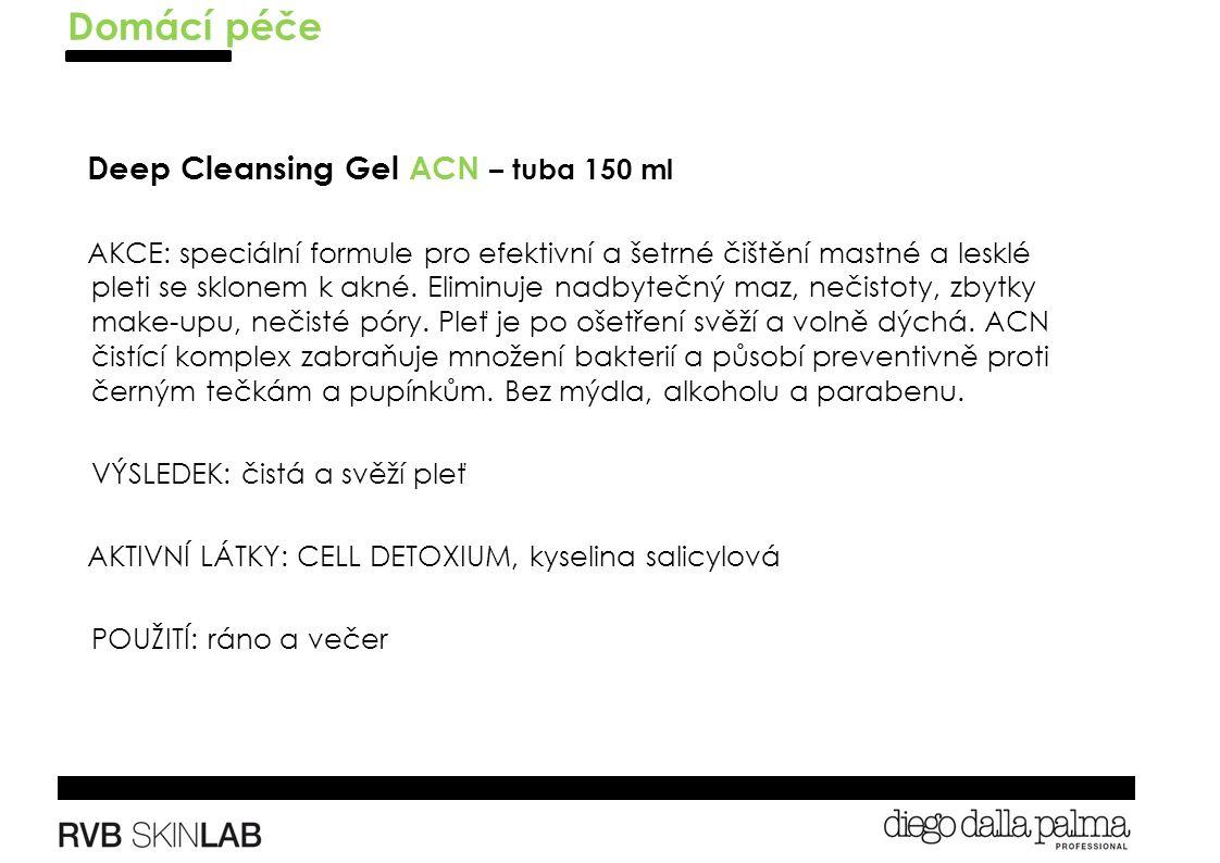 Deep Cleansing Gel ACN – tuba 150 ml AKCE: speciální formule pro efektivní a šetrné čištění mastné a lesklé pleti se sklonem k akné.
