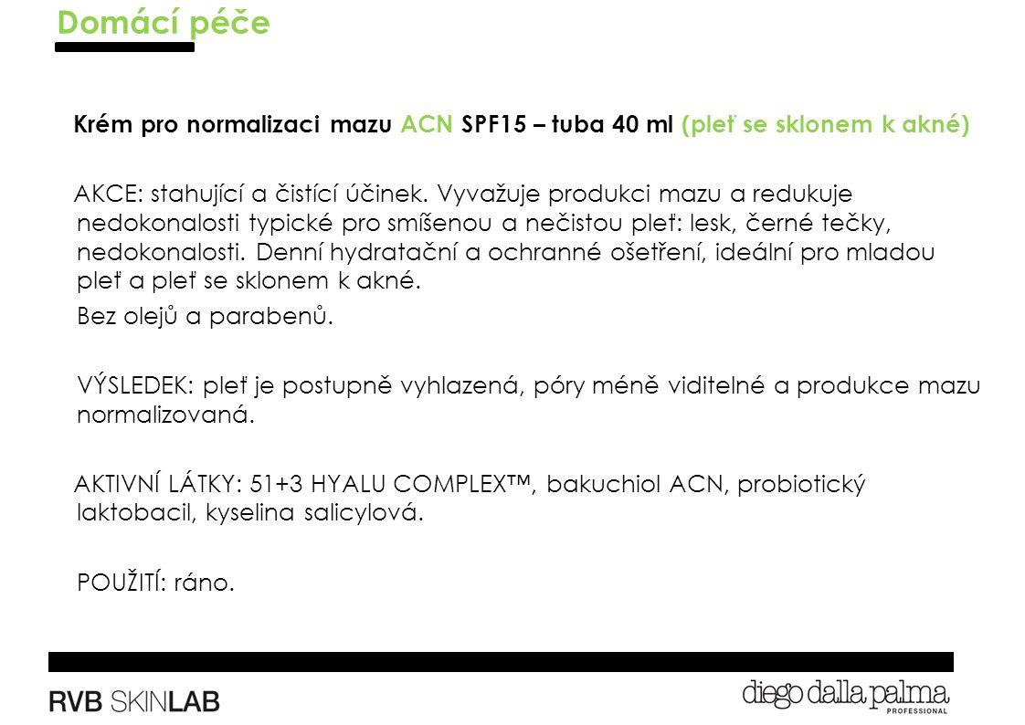 Krém pro normalizaci mazu ACN SPF15 – tuba 40 ml (pleť se sklonem k akné) AKCE: stahující a čistící účinek.
