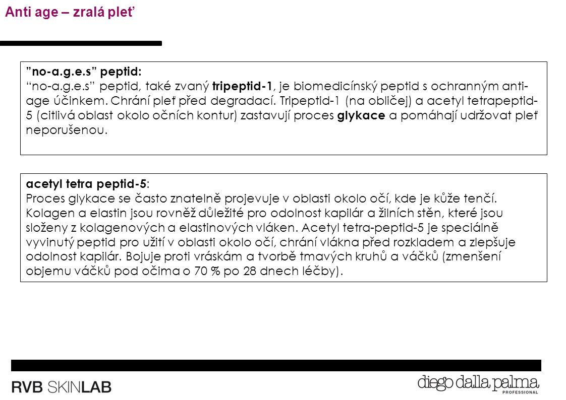 acetyl tetra peptid-5 : Proces glykace se často znatelně projevuje v oblasti okolo očí, kde je kůže tenčí.
