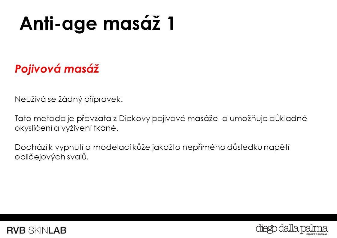 Anti-age masáž 1 Pojivová masáž Neužívá se žádný přípravek.