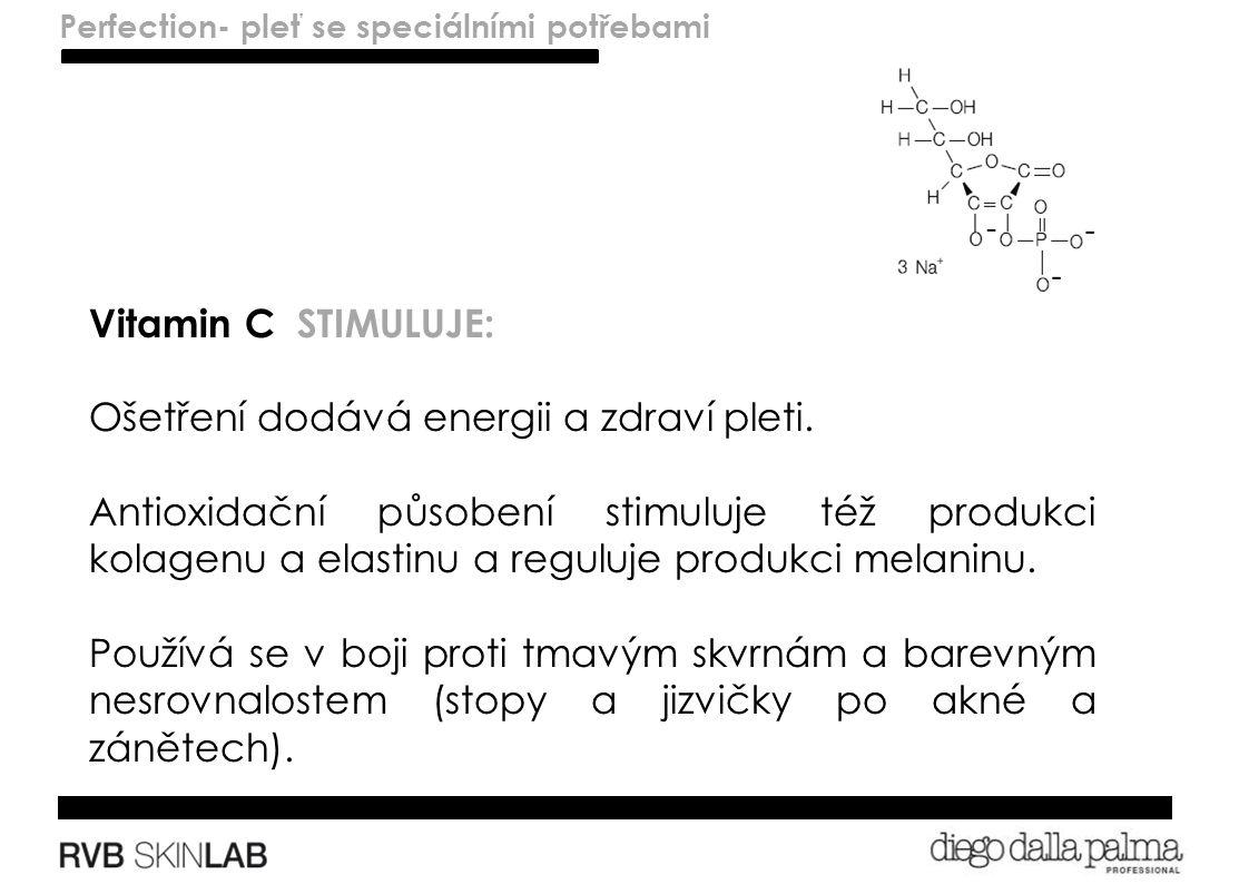 Lenitivo – pelli sensibili Vitamin C STIMULUJE: Ošetření dodává energii a zdraví pleti.