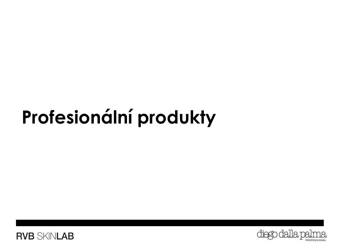 Profesionální produkty