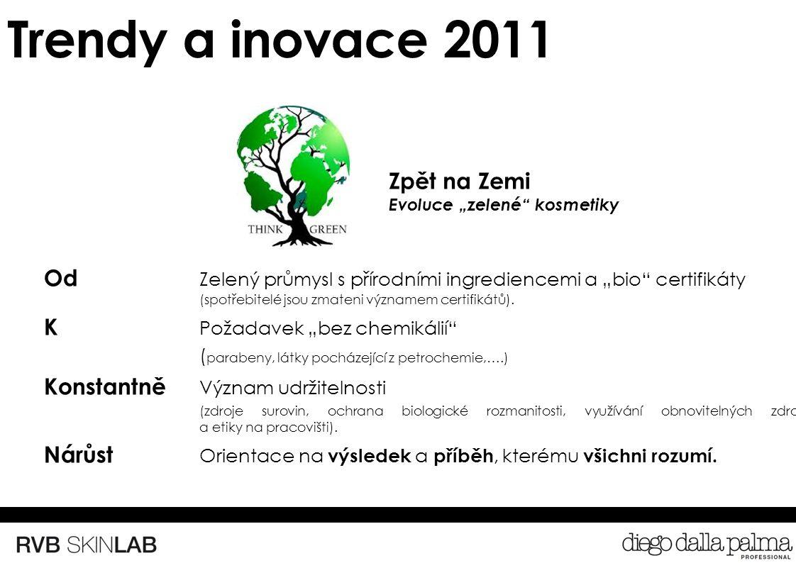 """Trendy a inovace 2011 Od Zelený průmysl s přírodními ingrediencemi a """"bio certifikáty (spotřebitelé jsou zmateni významem certifikátů)."""