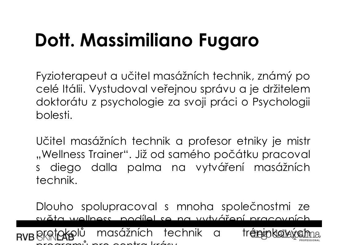 Fyzioterapeut a učitel masážních technik, známý po celé Itálii.