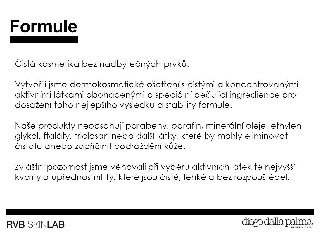 Formule Čistá kosmetika bez nadbytečných prvků.